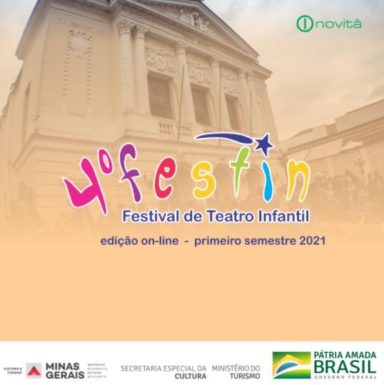 "4º Festival de Teatro Infantil ""Festin "" . Inovitá Brasil . De 01 a 06 de junho ."