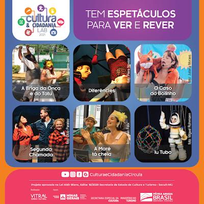 """Espetáculos para ver e rever """"Projeto Cultura & Cidadania"""""""