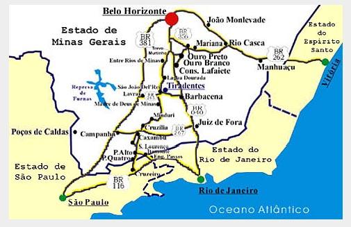 Como chegar em Tiradentes-MG